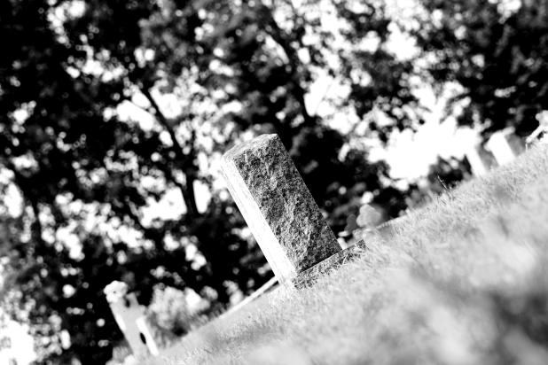 Gravestone Angle BW