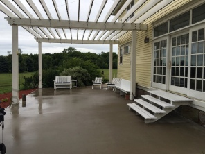 Pergola covered patio off of dining room.